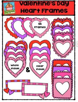 Valentine's Day Heart Frames {P4 Clips Trioriginals Digita