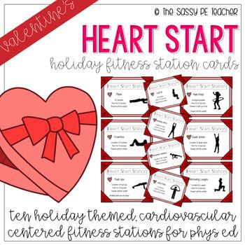 Valentine's Day Heart Start Fitness Stations