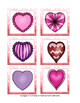 Valentine's Day Hearts and Cupcakes File Folder Matching