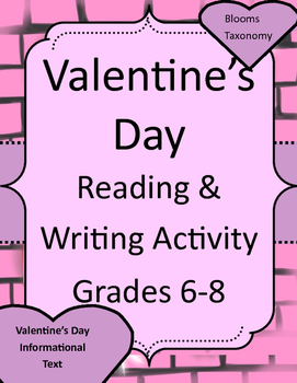 Valentine's Day Informational Text and Writing Activity wi