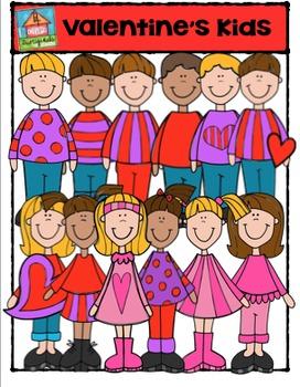 Valentine's Day Kids {P4 Clips Trioriginals Digital Clip Art}