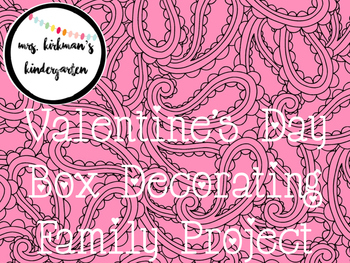 Valentine's Day Letter- A Home Letter to Parents