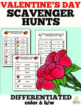 Valentine's Day Literacy Center: Valentine's Day Scavenger Hunt