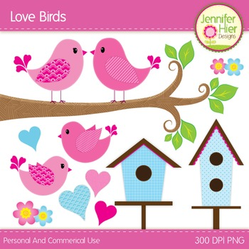 Valentine's Day Love Bird Clip Art