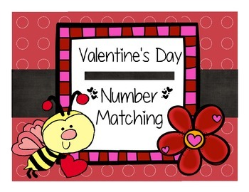 Valentine's Day Matching Number to Quantity 0-10