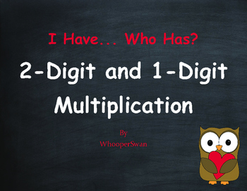 Valentine's Day Math: 2-Digit and 1-Digit Multiplication -