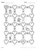 Valentine's Day Math: 3-Digit Subtraction Maze