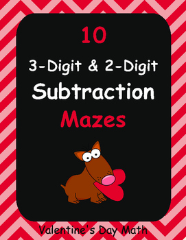 Valentine's Day Math: 3-Digit and 2-Digit Subtraction Maze
