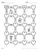 Valentine's Day Math: Adding Three 2-Digit Addition Maze
