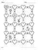 Valentine's Day Math: Average of 3 digits Maze