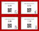 Valentine's Day Math: Decimals to Percents QR Code Task Cards