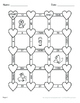 Valentine's Day Math: Length Conversions Maze - U.S. Custo