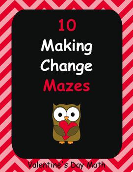 Valentine's Day Math: Making Change Maze