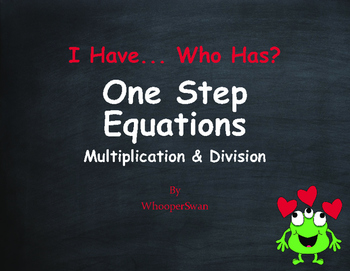 Valentine's Day Math: One Step Equations (Multiplication &