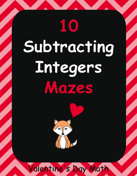 Valentine's Day Math: Subtracting Integers Maze
