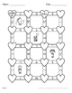 Valentine's Day Math: Subtracting Mixed Fractions Maze