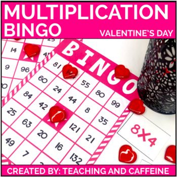 Valentine's Day Multiplication Bingo