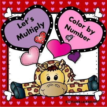 Valentine's Day Multiplication Facts Color by Number