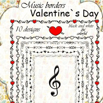 Valentine`s Day Music Borders