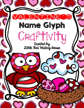 Valentine's Day Name Glyph Craftivity