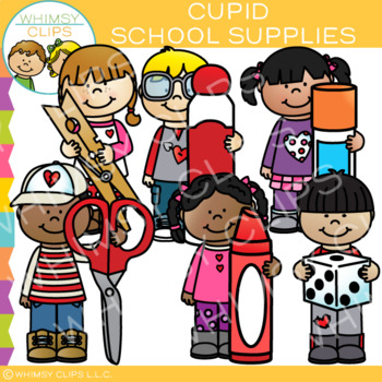 Valentine's Day School Supplies Clip Art