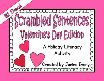 Valentine's Day Scrambled Sentences