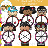 Valentine's Day Spinners Clip Art