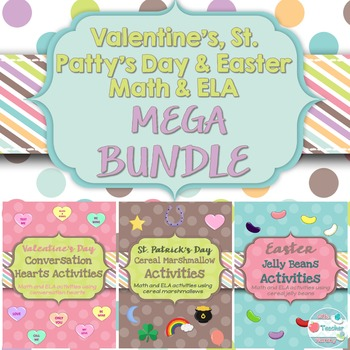 Valentine's Day, St. Patrick's Day and Easter Activity Bundle