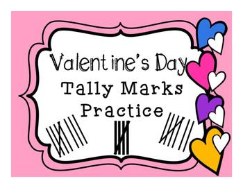 Valentine's Day Tally Marks Practice