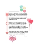 Valentine's Day Thank You Letter