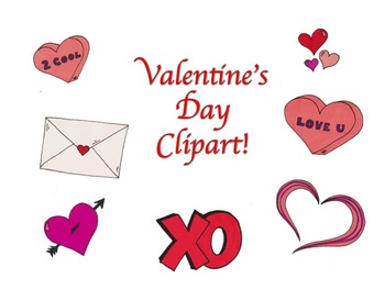 Valentine's Day Themed Clipart