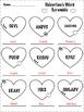 Valentine's Day Word Scramble 2