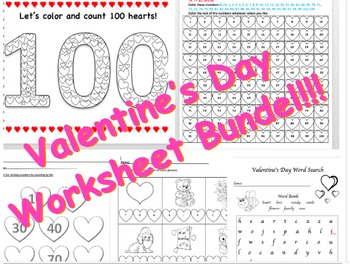 Valentine's Day Worksheet Bundle