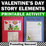 Valentine's Day Writing Story Elements Interactive Noteboo