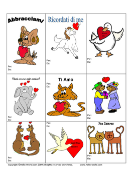 Valentine's Day cards (San Valentino)