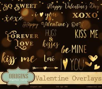 Valentine's Day gold foil word art photo photography typog