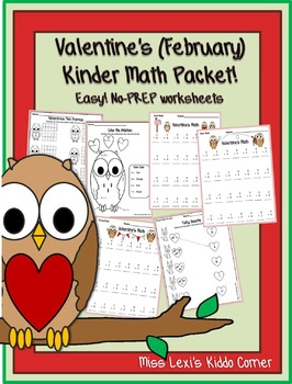 Valentine's (February) Kinder Math Packet