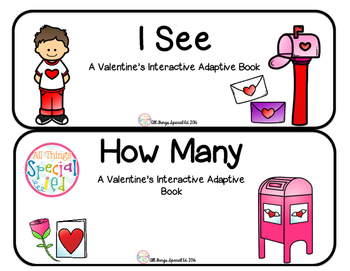 "Valentine's Interactive Adaptive books set of 2 (""I See an"