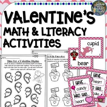 Valentine's Math & Literacy Activities for First Grade!
