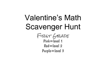 Valentine's Math Scavenger Hunt
