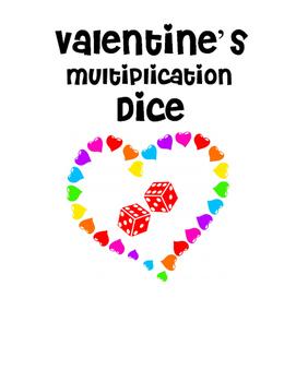 Valentine's Multiplication Using Dice