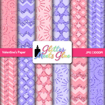 Valentine's Paper {Scrapbook Backgrounds for Worksheets an