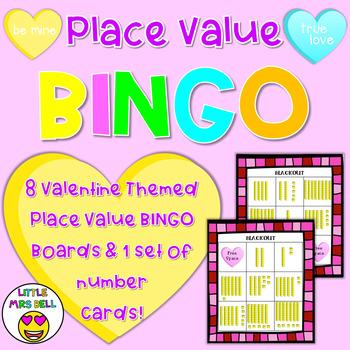 Valentine Place Value Game