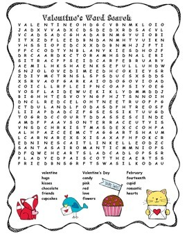 Valentine's Word Search
