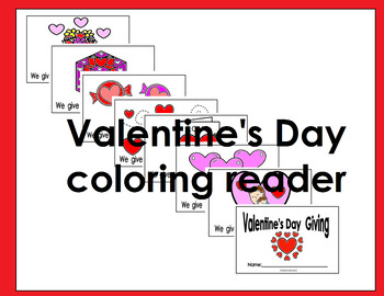 Valentine's day coloring reader