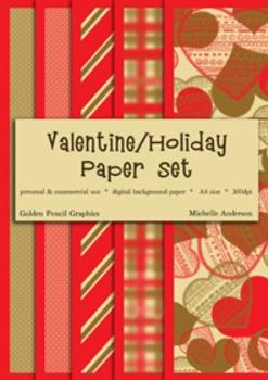 Valentine/Holiday Paper Set