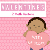 Valentines 2 Digit Addition and Subtraction with QR Codes