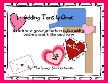 Valentine's Adding Tens & Ones