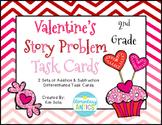 Valentine's Addition & Subtraction Word Problem Task Cards
