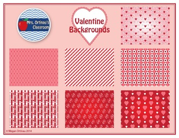 Valentine's Backgrounds, Frames, and Clip-Art Bundle